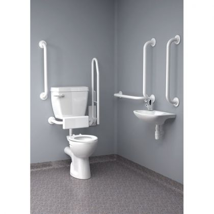 Inta Standard Doc M Pack with 6L Low Level Disabled Toilet   Commercial Washrooms