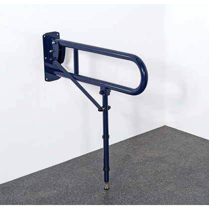 Lift And Lock Stainless Steel Hinged Rail With Leg 650mm - Dark Blue