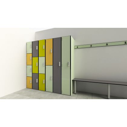 Changing Room Lockers with Solid Grade Laminate Doors