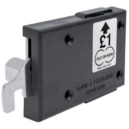 Lowe & Fletcher Dry Area Dual Pound Coin Latch Locker Lock