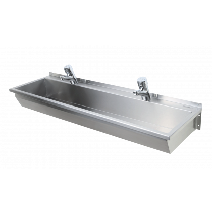 Pland Madeira Stainless Steel Wash Trough | Commercial Washrooms