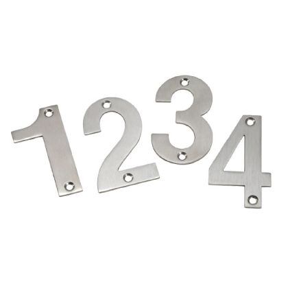 Numerical Stainless Steel Signs