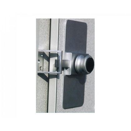 Replacement Toilet Cubicle Lock and Cover Plate - Horizontal or Vertical