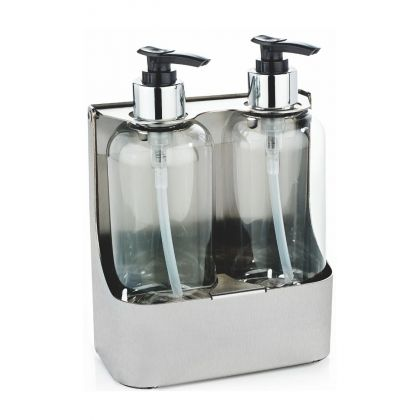 Double Stainless Steel Soap Bottle Holders