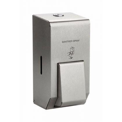 Brushed Stainless 400ml Sanitiser Spray Dispenser