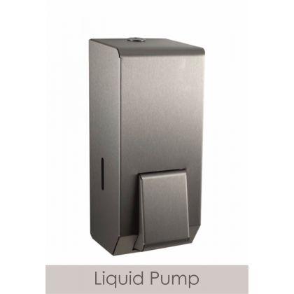 Brushed Steel Refillable Soap Dispenser 900ml