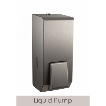 Brushed Steel Refillable Soap Dispenser 900ml - Liquid Soap
