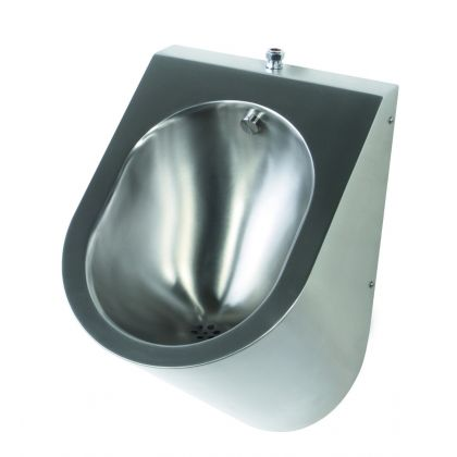 Pland Stainless Steel Krakow Urinal with Top Inlet (Exposed)