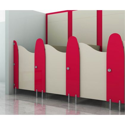 Play Time - Small Children's Toilet Cubicle - 5 Wall Angle