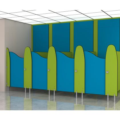 Play Time - SGL Small Children's Toilet Cubicles (Wet Area & High Abuse Range)