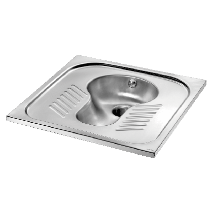 Delabie Stainless Steel Recessed Squat Pan | Commercial Washrooms