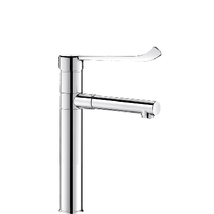 Delabie Mechanical Basin Mixer Tap with Removable Swivelling Stainless Steel Spout | Commercial Washrooms