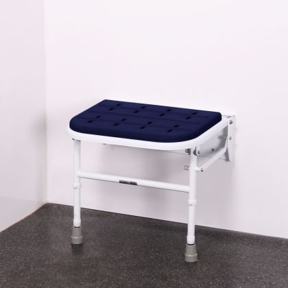 Premium Padded Wall Mounted Shower Seat With Legs