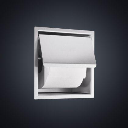 Prestige Flush Mounted Toilet Paper Dispenser (Polished Stainless Steel)