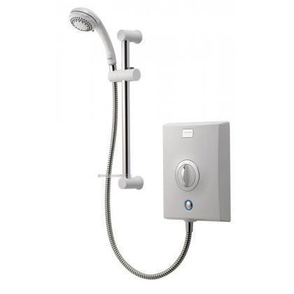 Aqualisa Quartz electric shower White/Chrome Plated | Commercial Washrooms