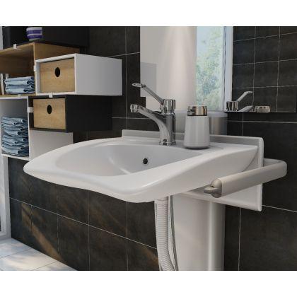 Pressalit PLUS Height Adjustable Bracket with CURVE Wash Basin Pack   Commercial Washrooms