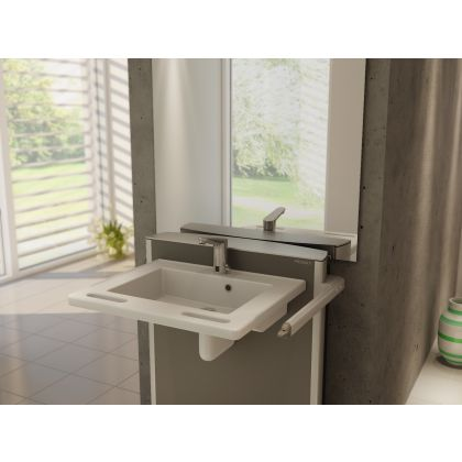 Pressalit SELECT Electrically Height Adjustable Bracket with MATRIX Small Wash Basin Pack