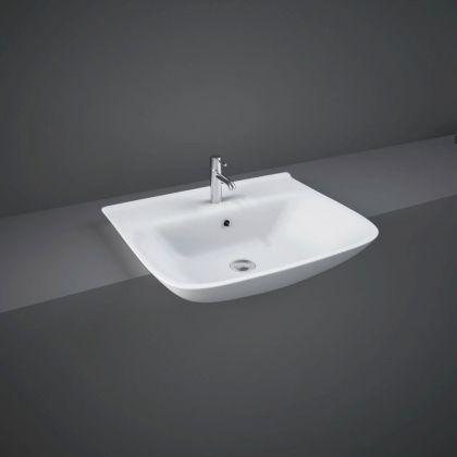 RAK-Origin 52cm Semi Recessed Basin with 1 Taphole | Commercial Washrooms