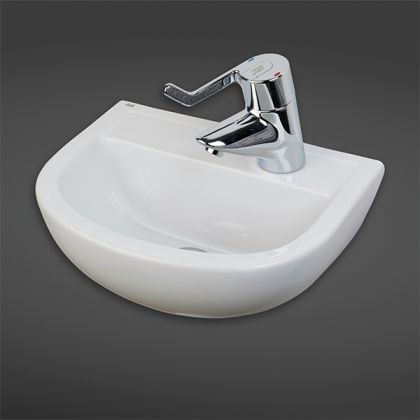 RAK-Compact 38cm Special Needs Basin with Right Hand Taphole | Commercial Washrooms