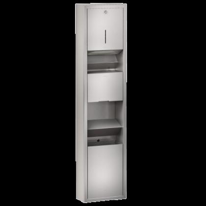 Franke Combinations RODAN Paper Towel Dispenser, Hand Dryer and Waste Bin Unit | Commercial Washrooms
