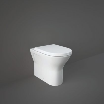 RAK-Resort Comfort Height Back to Wall Pan with Soft Close Seat - 42.5cm or 45cm   Commercial Washrooms