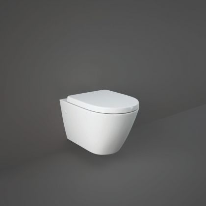 RAK-Resort Wall Hung Toilet with Wrap Over Soft Close Seat | Commercial Washrooms