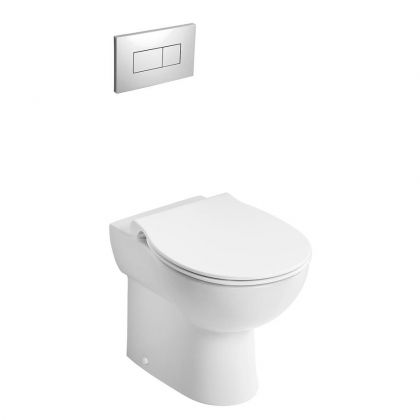 Armitage Shanks Contour 21+ Back to Wall Rimless Toilet (S0439) | Commercial Washrooms