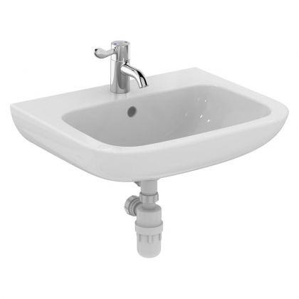 Armitage Shanks Portman 21 600mm Washbasin (HTM64) - 1 Central tap hole, with overflow and no chainstay hole