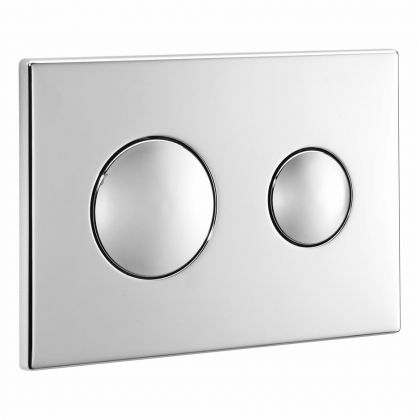 Armitage Shanks Branded Contemporary Flush Plate (Dual Flush) for Conceala 2 Cistern