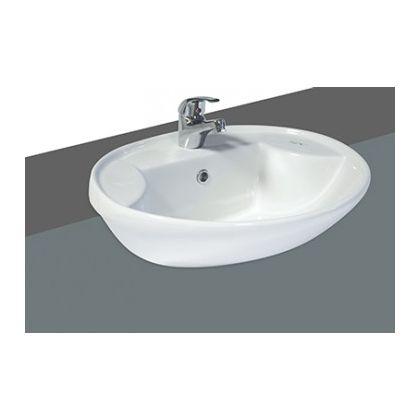 Blanc Semi Recessed Basin - 500mm 1 Tap Hole