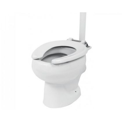 White Open Front Toilet Seat Ring for School Toilet Pans