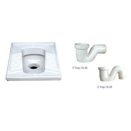 Ceramic Squat Pan with Optional Traps