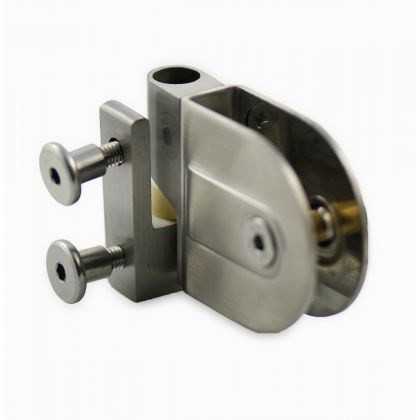 Rise and Fall Cubicle Hinge (Pair) - Stainless Steel, 17-19mm