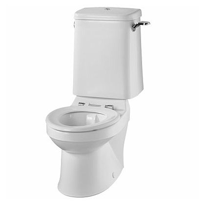 Twyford Sola School Close Coupled Rimless Toilet Pan (350mm high)