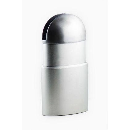 Oval Adjustable Height Cubicle Leg (Single Slot) - Aluminium - 18-21mm