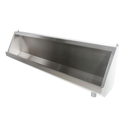 Stainless Steel Urinal Trough with Exposed Cistern