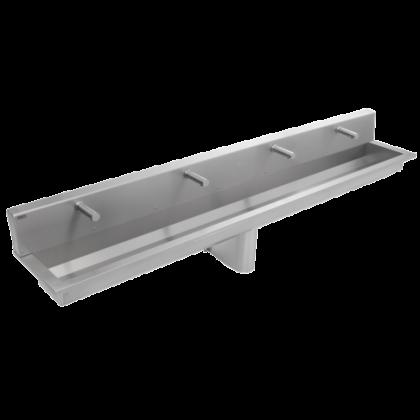 Franke 4 Users Stainless Steel Wash Trough with Rear Splashback (SANX240SB)