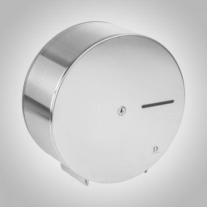 Dolphin Elements Mini Jumbo Toilet Roll Dispenser (White Metal)