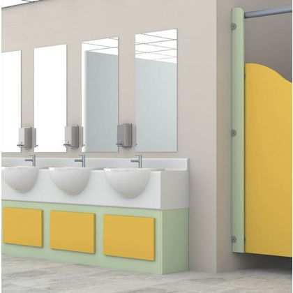 Story Time Vanity Unit for Schools, Semi-Recessed