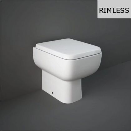 RAK-Series 600 Rimless Back to Wall Toilet with Soft Close Seat