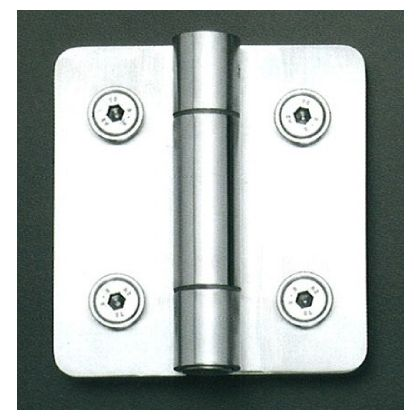 Self Closing Hinge for Glass Partitions and Cubicles