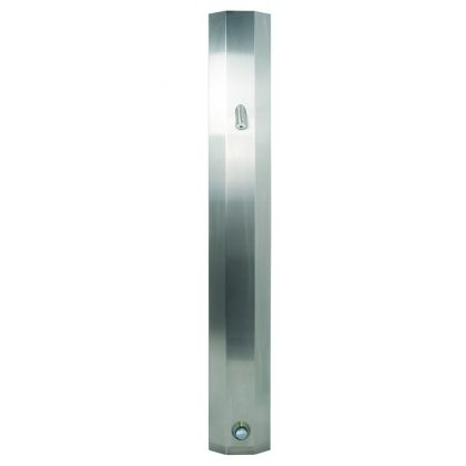 DVS Ceiling Height Shower Panel with Push Button Control and High Security Shower Head