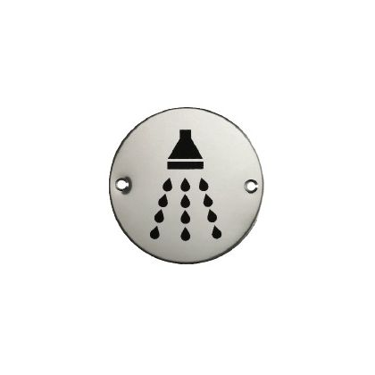 Shower Sign - Stainless Steel