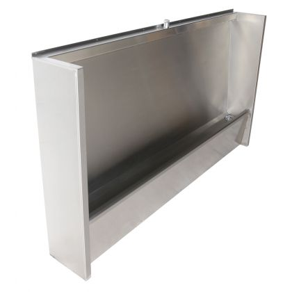 Floor Standing Stainless Steel Urinal Trough with Exposed Cistern