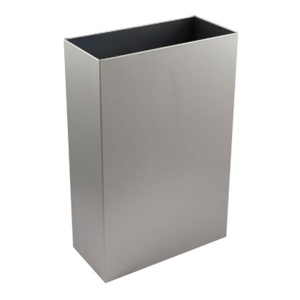 Slim Waste Bin with Open Top - Brushed Stainless Steel