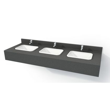 Inset Solid Surface Vanity Unit