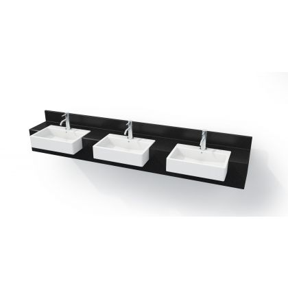 Semi-Recessed Solid Surface Vanity Top