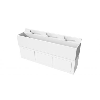 Solid Surface Wash Trough With Tap Ledge (SST604L)