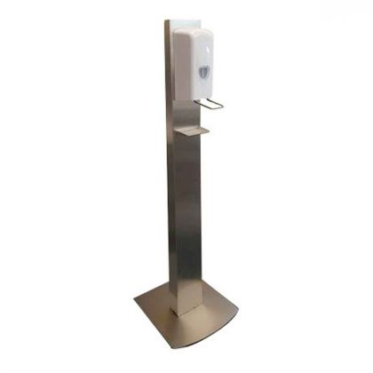 Dolphin Stainless Steel Freestanding Hand Sanitiser Station With Drip Tray | Commercial Washrooms