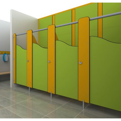 Story Time - SGL Junior School Toilet Cubicles (Wet Area & High Abuse Range) - 4 Wall Angle